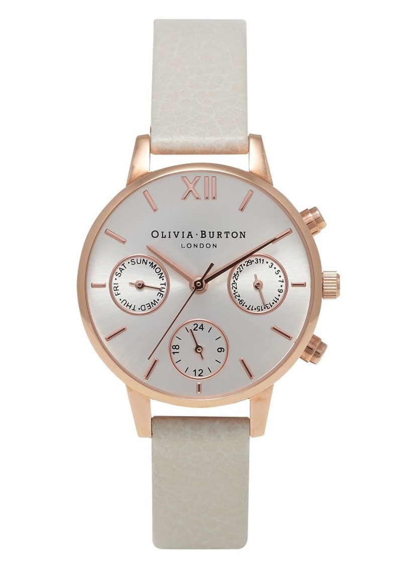 Olivia Burton Midi Dial Chrono Detail Watch - Mink & Rose Gold main image