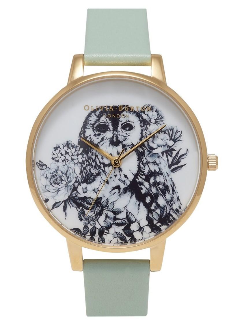 Olivia Burton Animal Motif Owl Watch - Mint & Gold main image