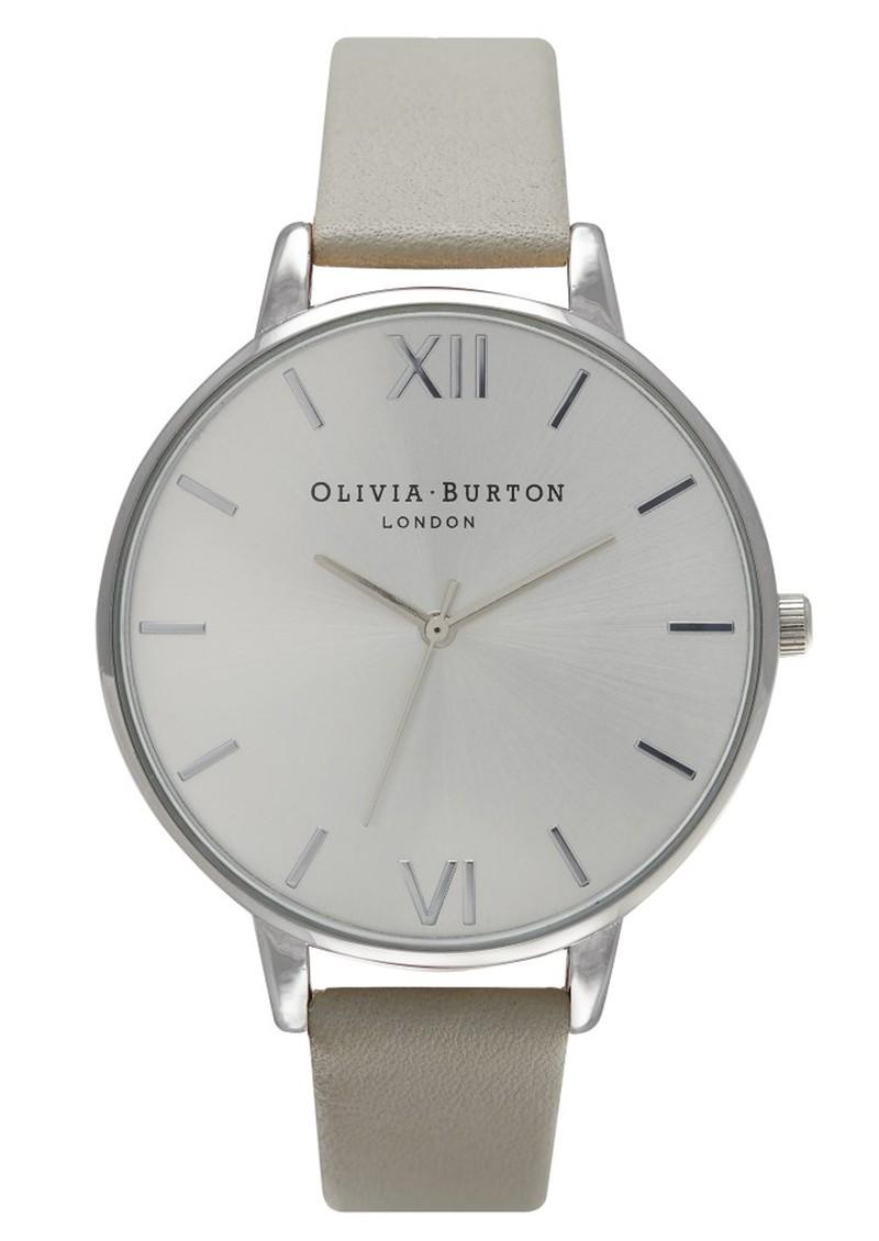 Olivia Burton Big Dial Watch - Grey & Silver main image