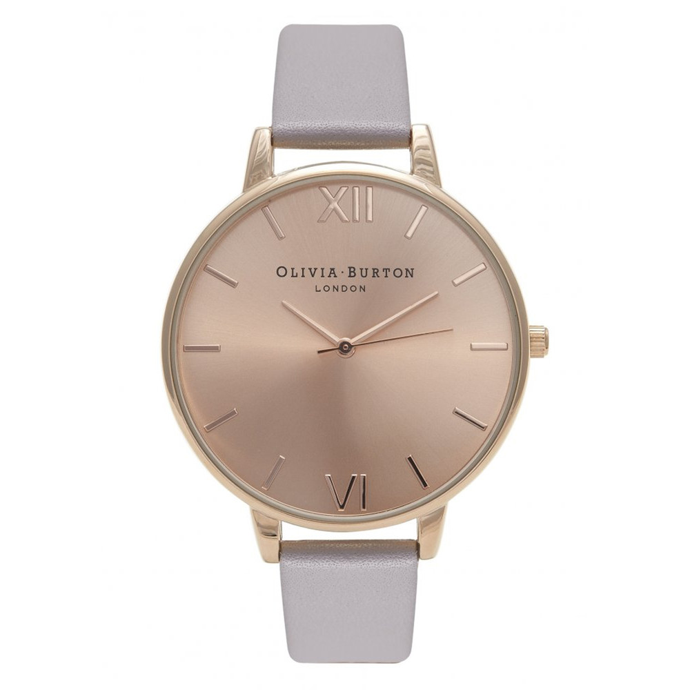 Big Dial Watch - Grey Lilac & Rose Gold