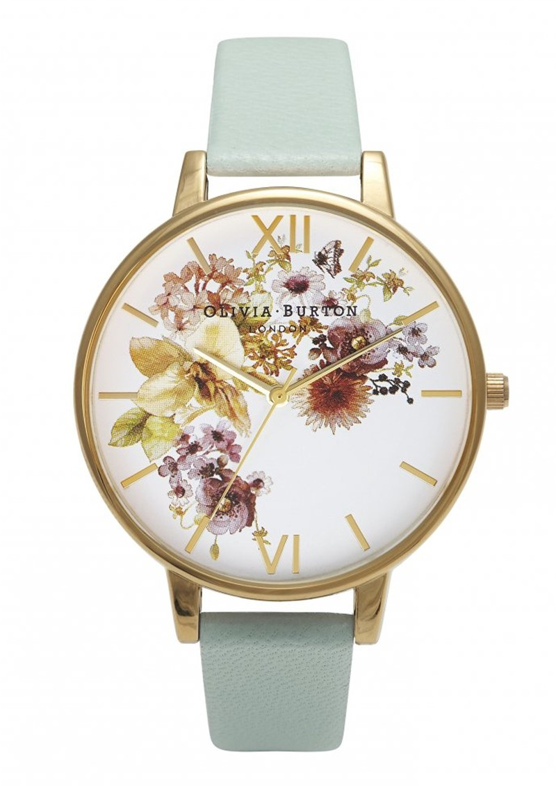 Olivia Burton Flower Show Watch - Mint & Gold main image