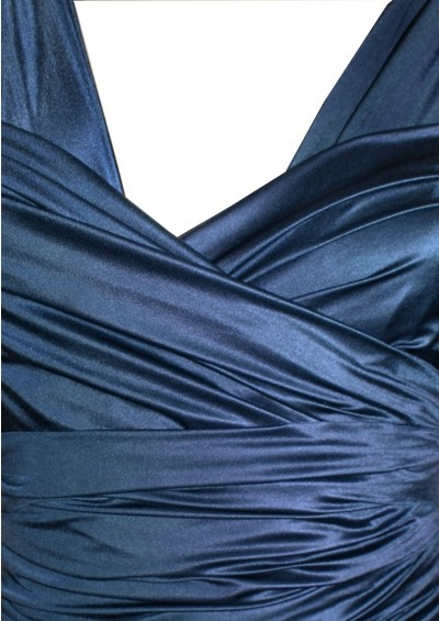 Butter By Nadia Long Satin Ball Gown - Navy main image