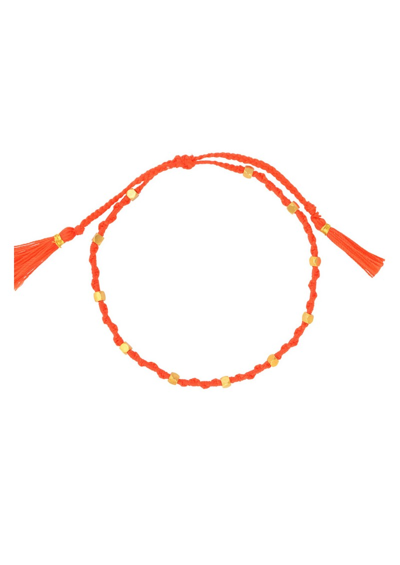 Jiya Jewellery Tahiti Bracelet - Gold & Neon Orange main image