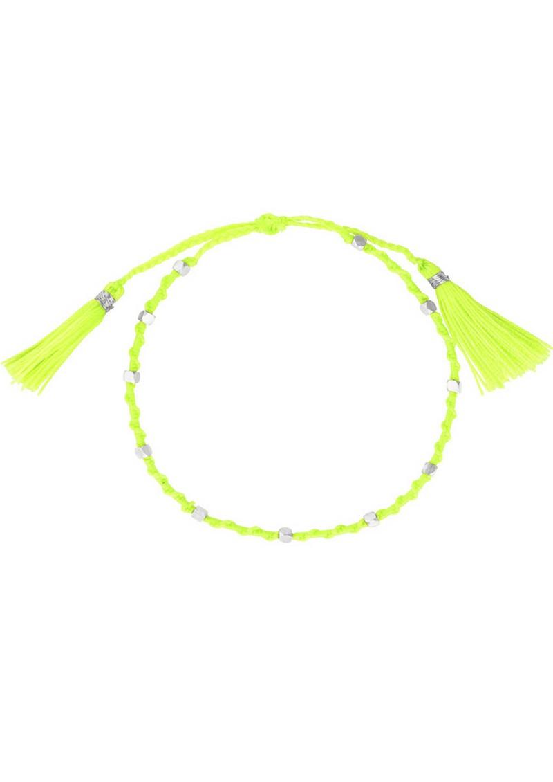 Jiya Jewellery Tahiti Bracelet - Silver & Neon Green main image