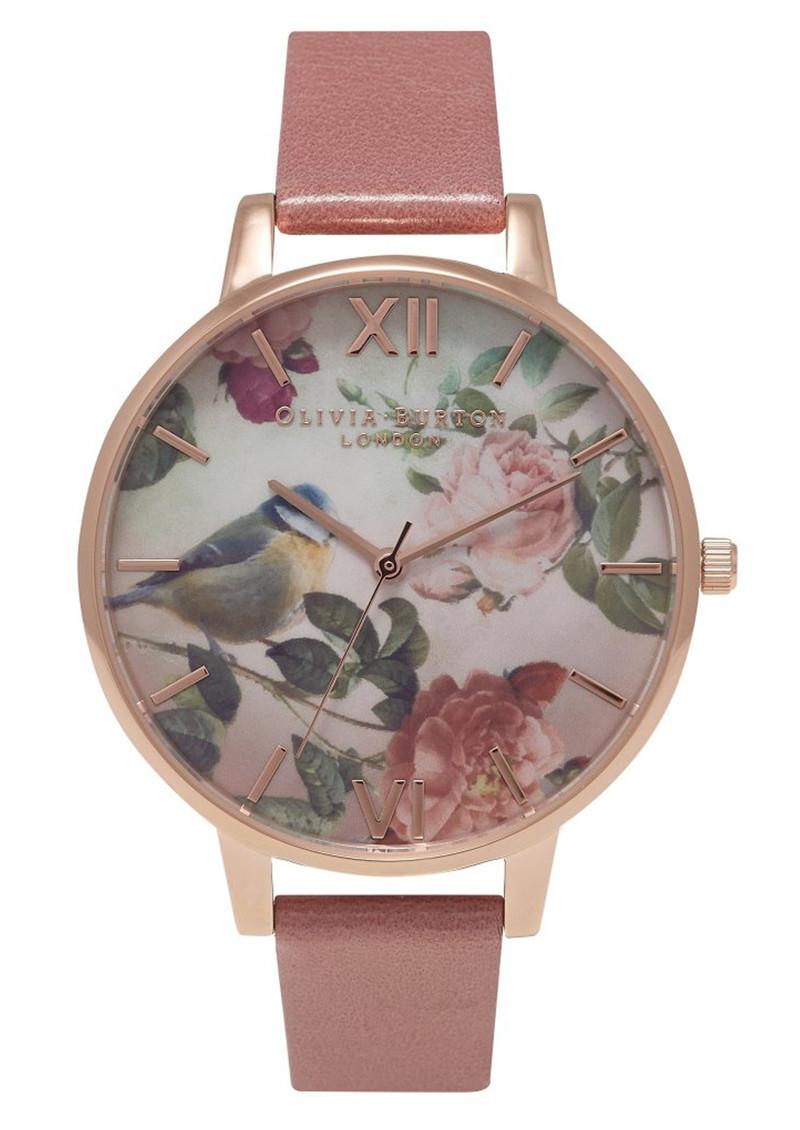 Olivia Burton Woodland Bird Watch - Rose & Rose Gold main image