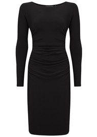 KAMALI KULTURE Long Sleeve Shirred Waist Dress - Black