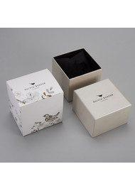 Olivia Burton Monochrome Ditsy Floral Watch - Black & Gold