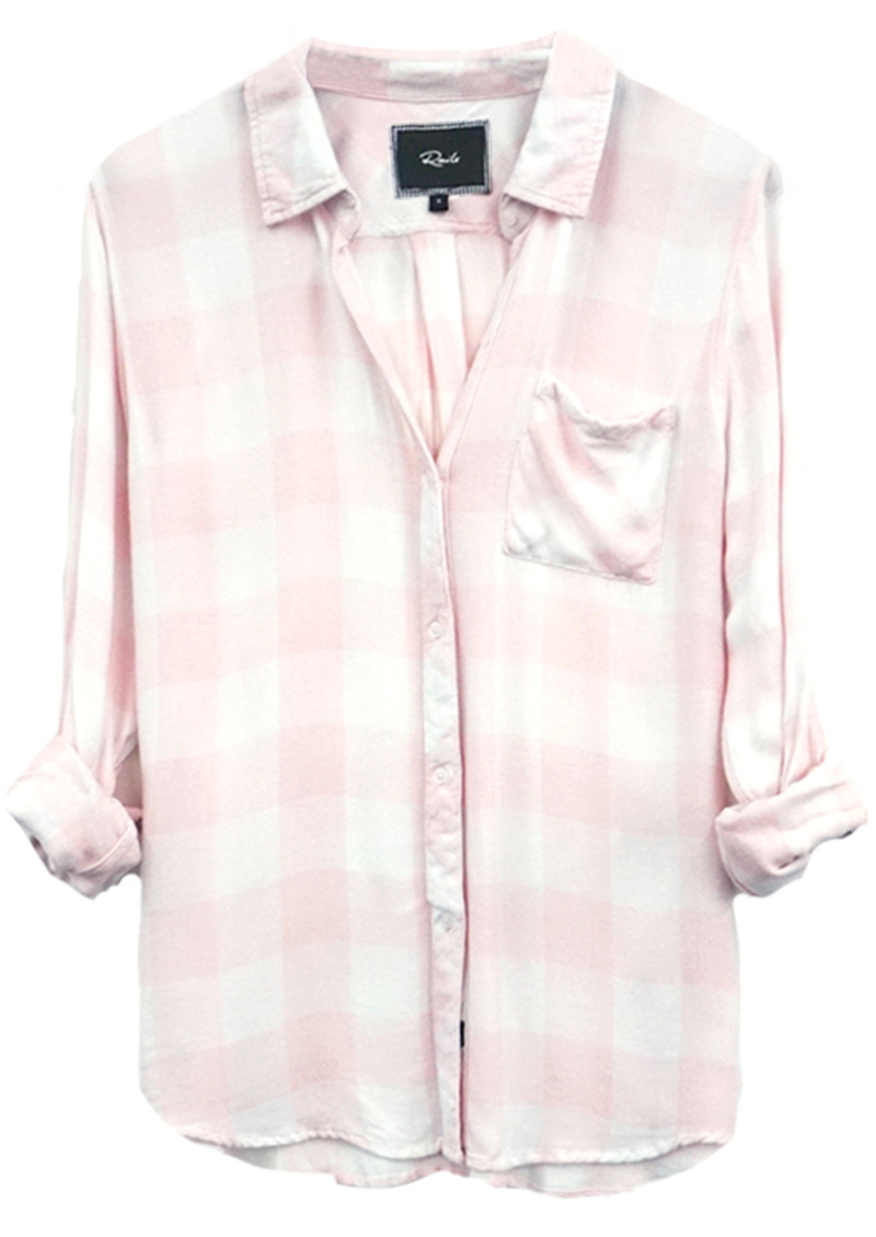 Rails Hunter Shirt - Pink and White Check main image