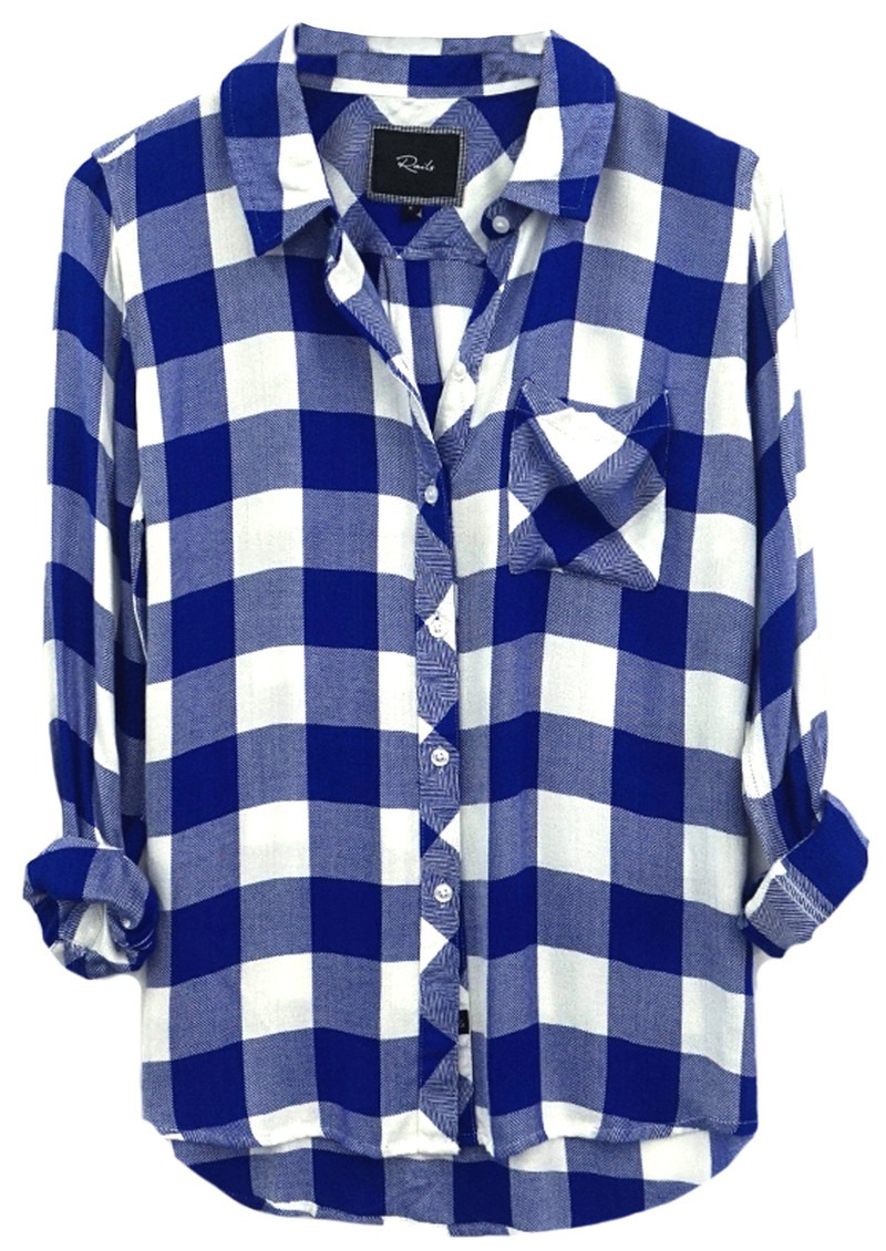 Hunter Shirt - Cobalt Blue and White Check main image
