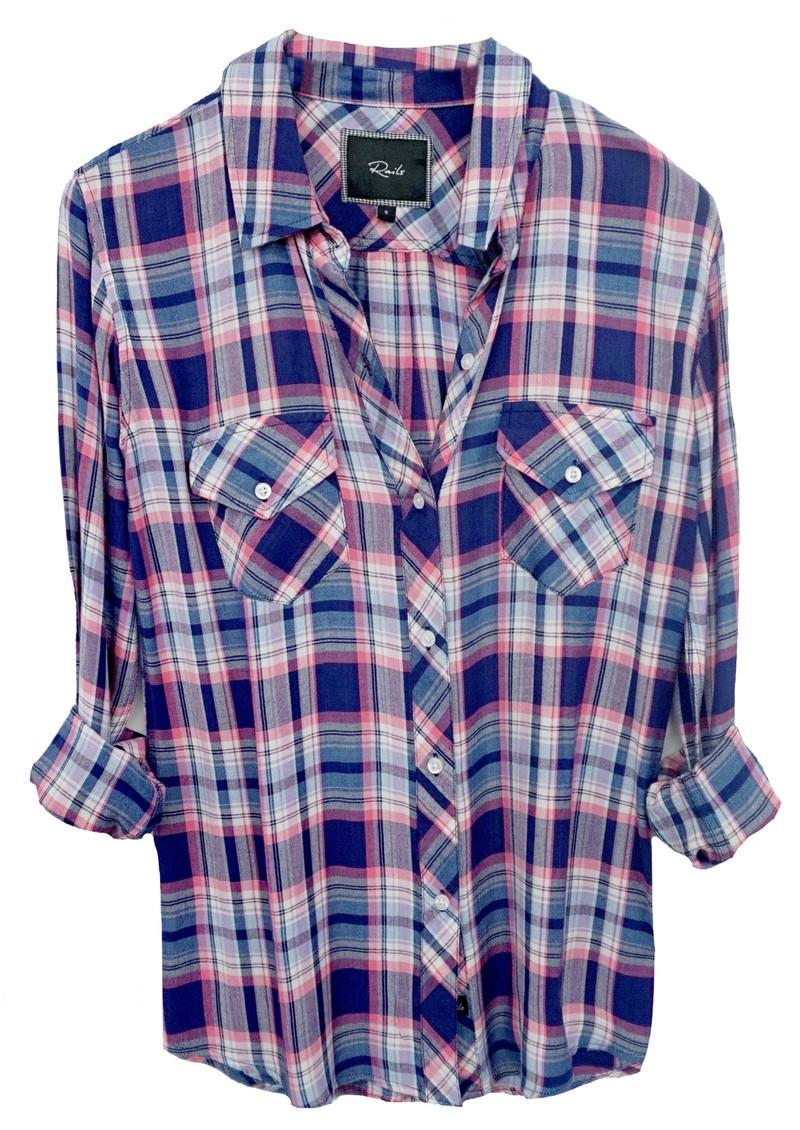 Rails Carmen Shirt - Pink and Navy   main image