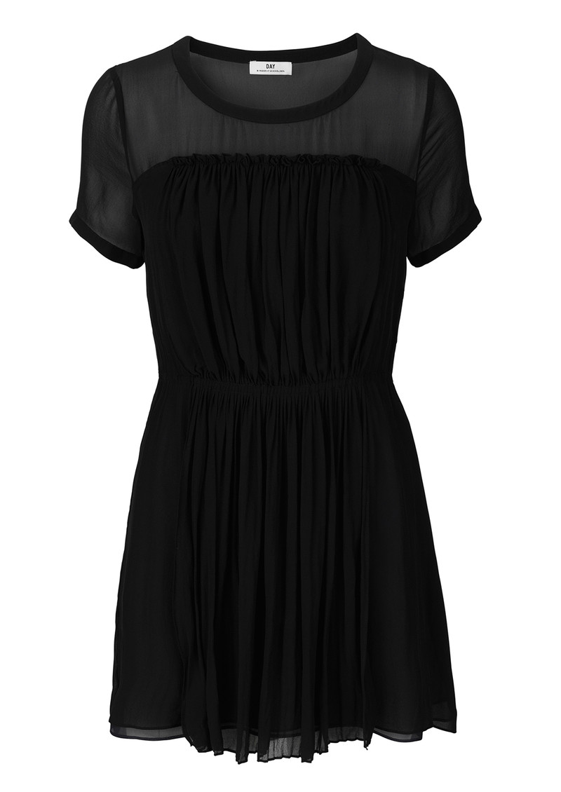 Day Birger et Mikkelsen  Opaque Pleated Dress - Black main image