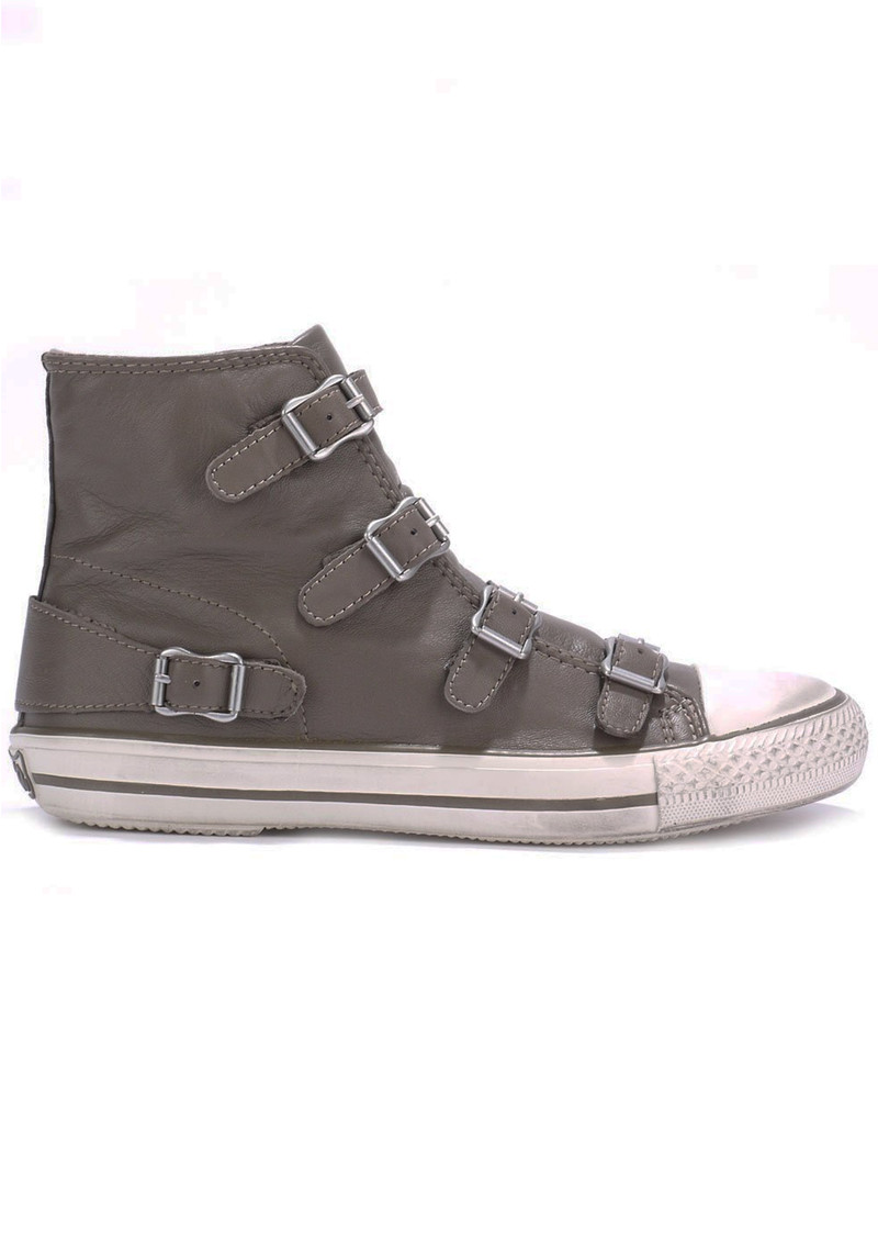 Ash Virgin Leather Buckle Trainers - Elephant main image