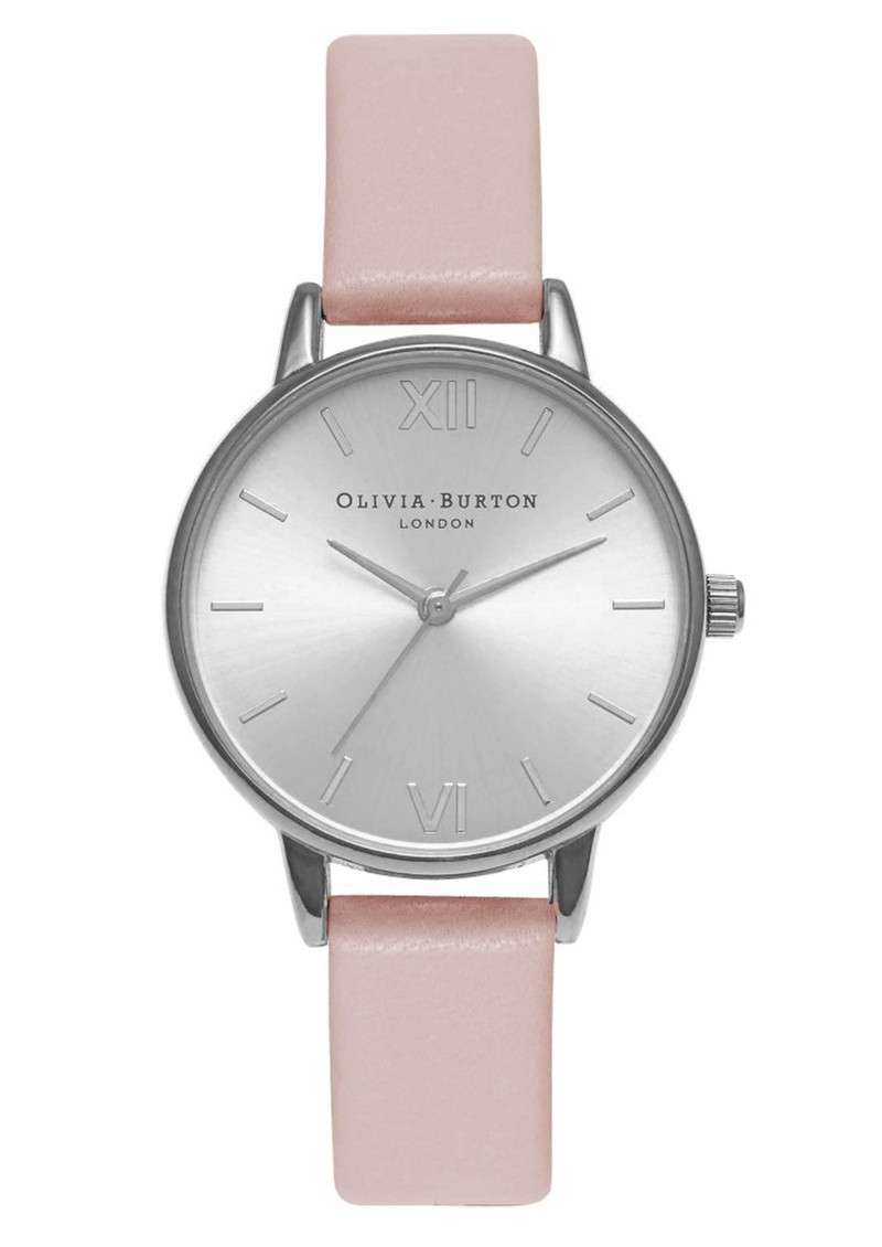 Olivia Burton Midi Dial Watch - Dusty Pink & Silver  main image