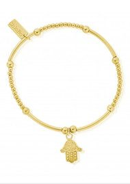 ChloBo Cute Mini Decorated Hamsa Hand Bracelet - Gold