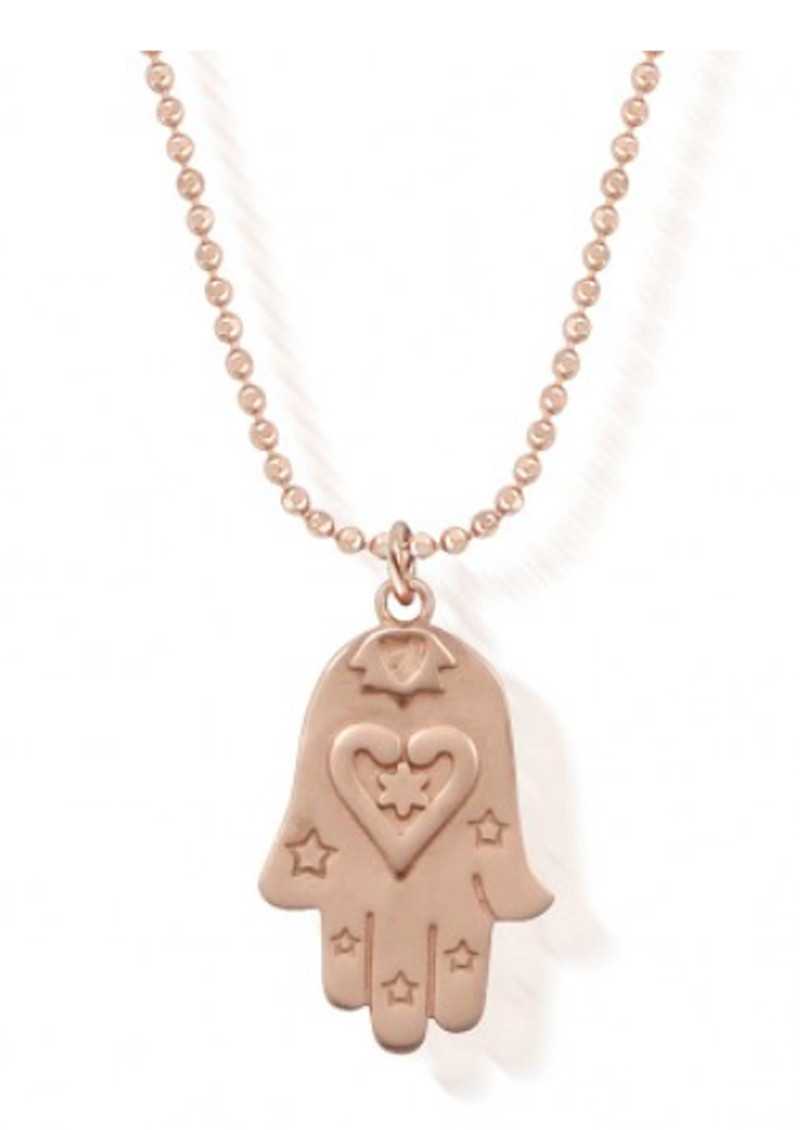 ChloBo Necklace with Starry Hamsa Hand Pendant - Rose Gold