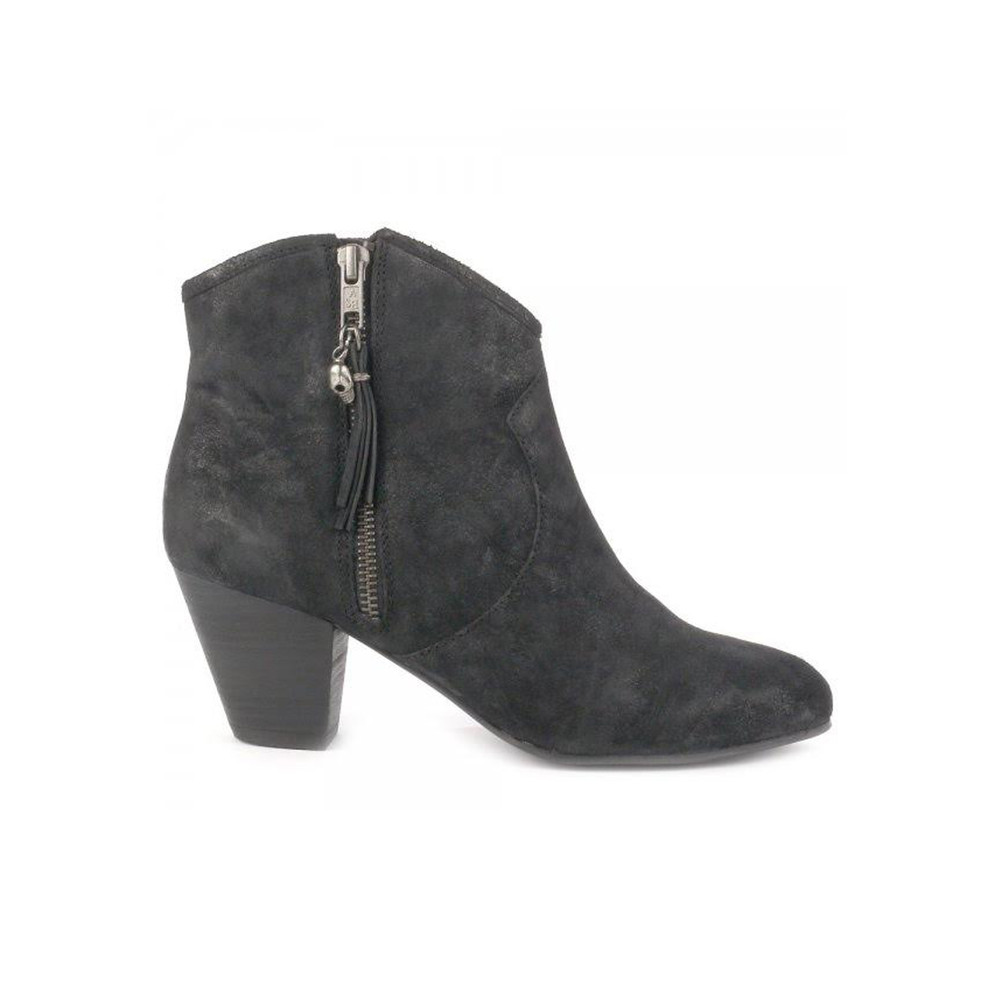 Jess Reverse Broken Boots - Black