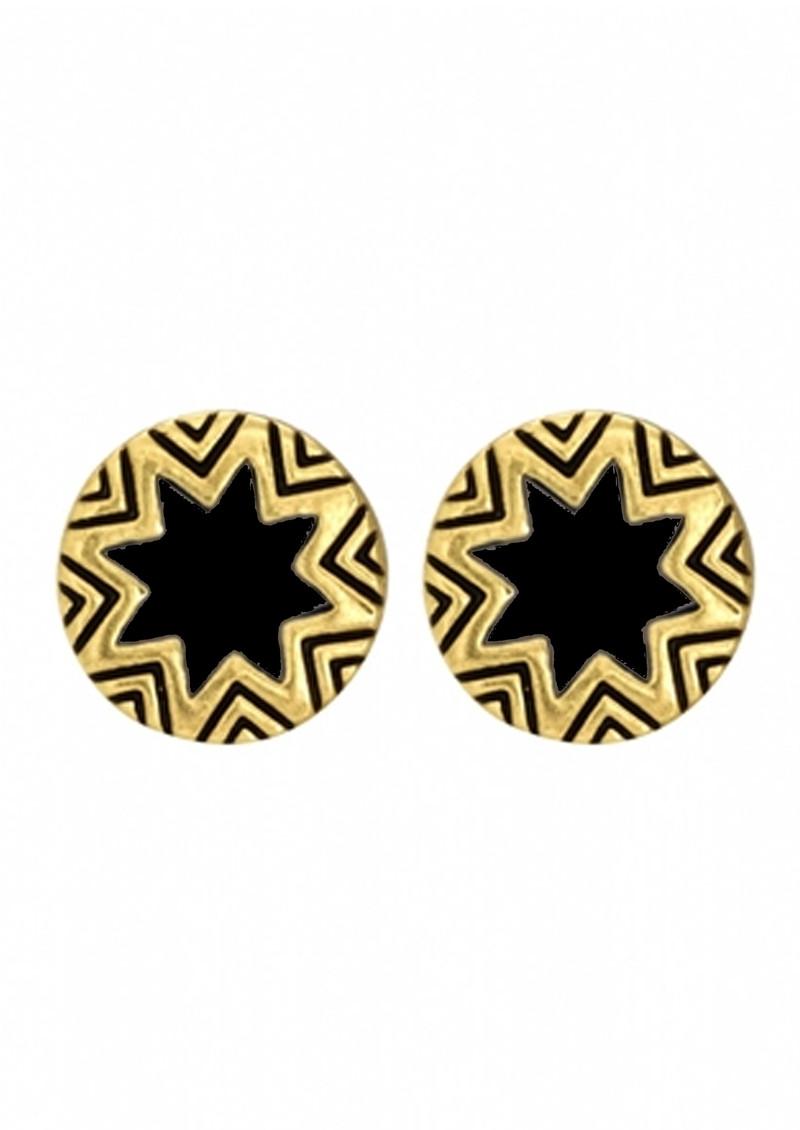 House Of Harlow Mini Sunburst Earrings - Black main image