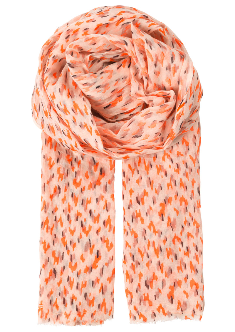 Becksondergaard T-Bushwick Cotton Scarf - Neon Orange main image