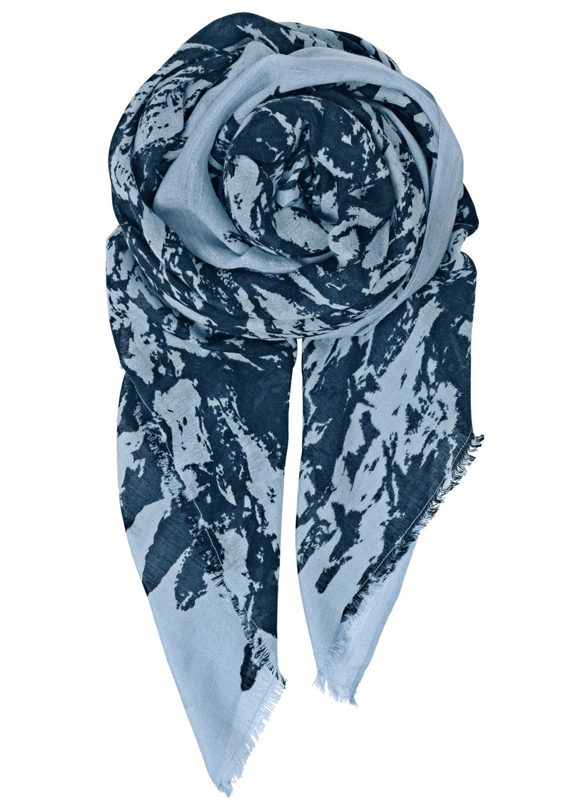 T-Norwood Silk Mix Scarf - Classic Navy main image