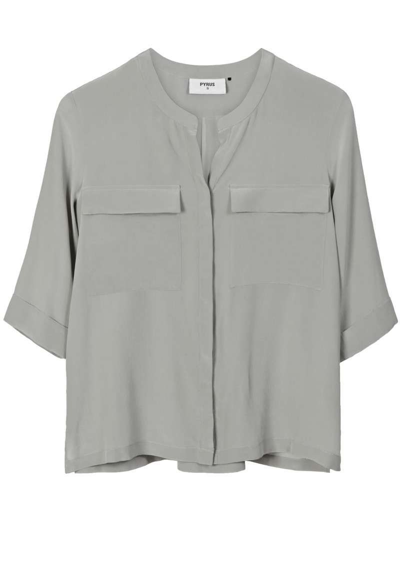 Pyrus Joni Silk Pocket Shirt - Eau De Nil main image
