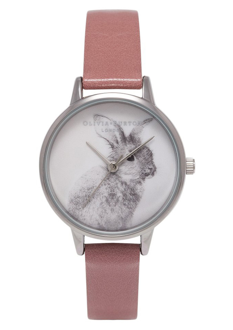 Woodland Bunny Watch - Rose & Silver main image
