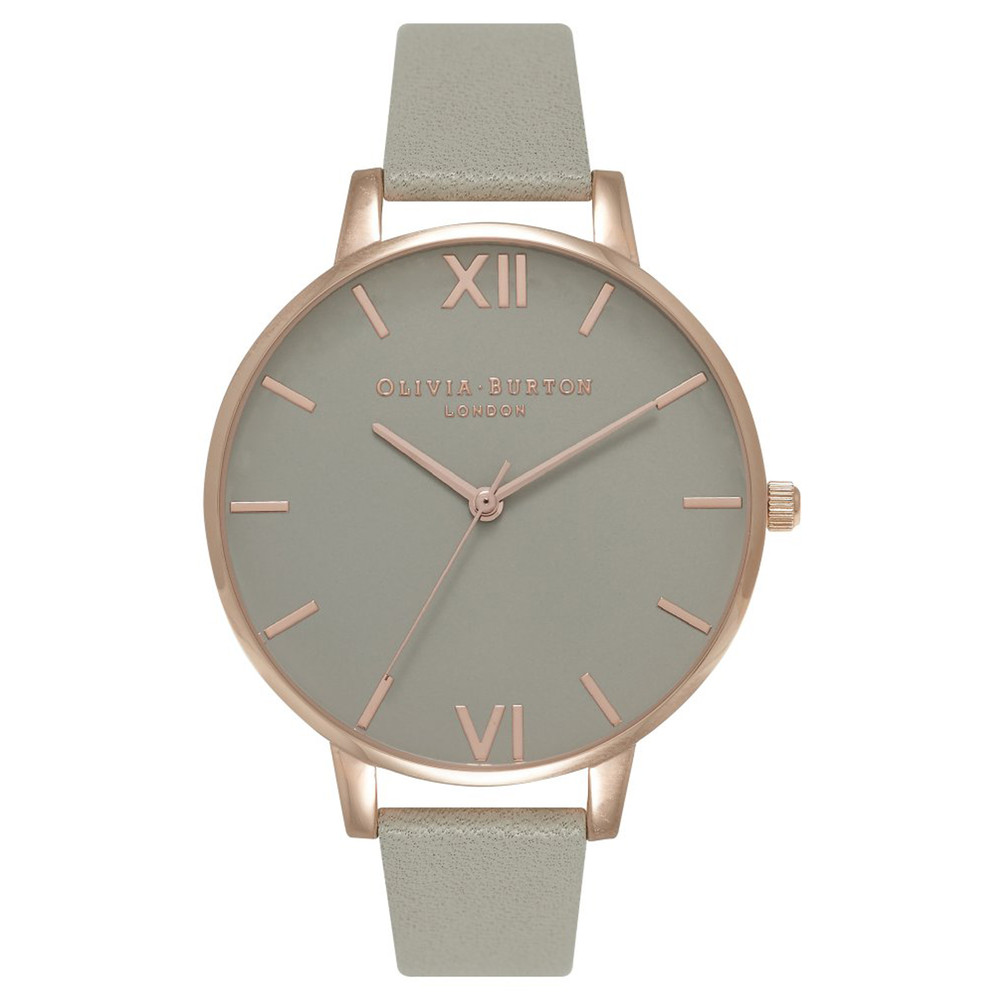 Big Grey Dial Watch - Grey & Rose Gold