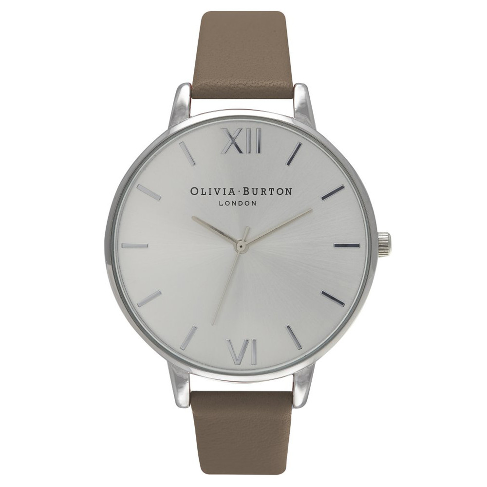 Big Dial Watch - Taupe & Silver