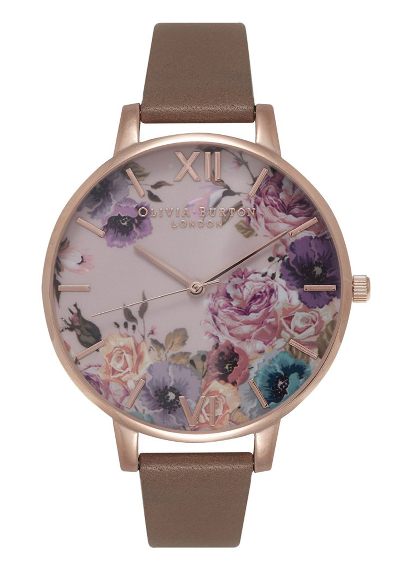 Enchanted Garden Watch - Taupe & Rose Gold main image