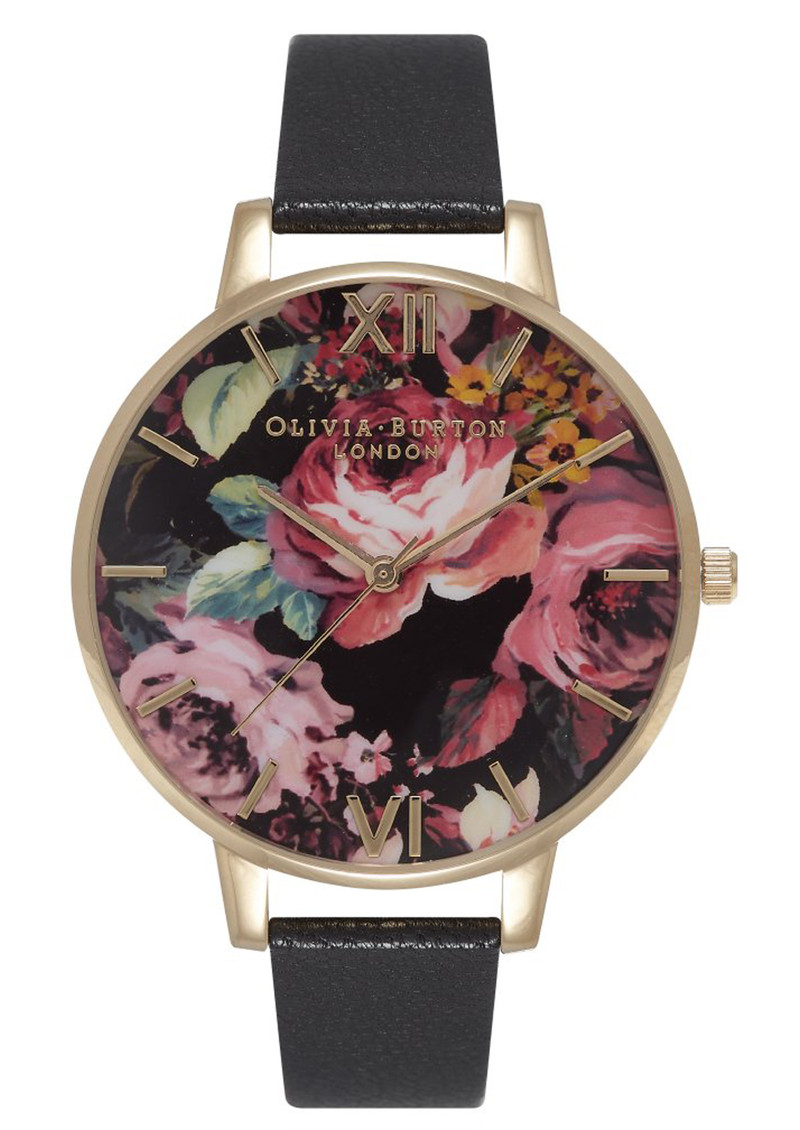Painterly Prints Watch - Black & Gold main image