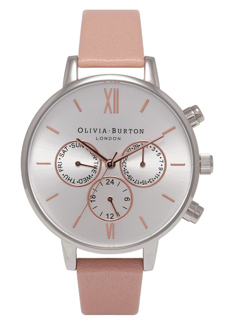 Olivia Burton Chrono Detail Watch - Dusty Pink, Silver & Rose Gold main image
