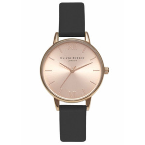 Midi Dial Watch - Black & Rose Gold