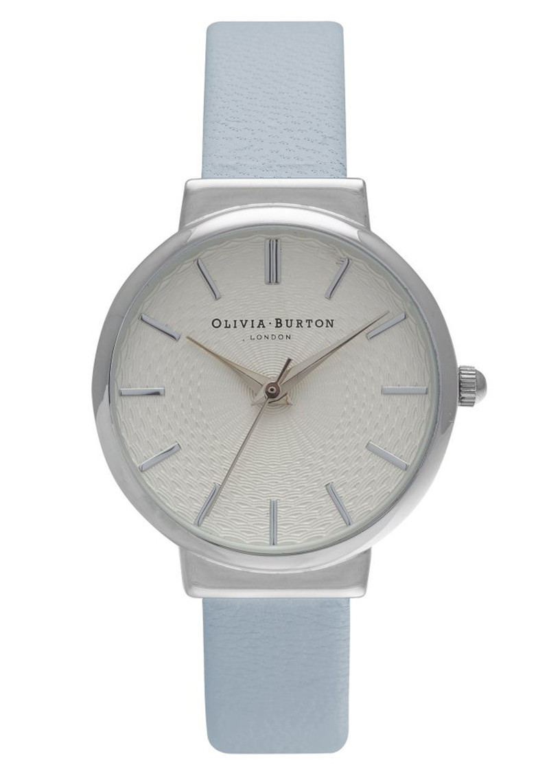 The Hackney Watch - Powder Blue & Silver main image