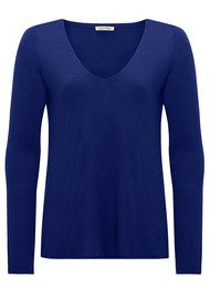 American Vintage Blossom Long Sleeve Sweater - Indigo