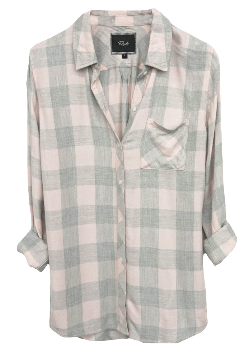 Rails Hunter Shirt Pink Grey Check