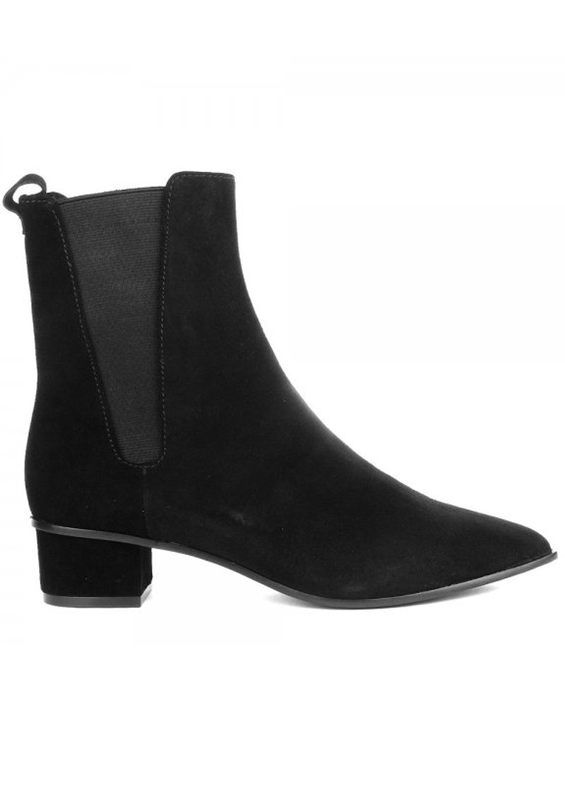 ash mira suede pointed boots black