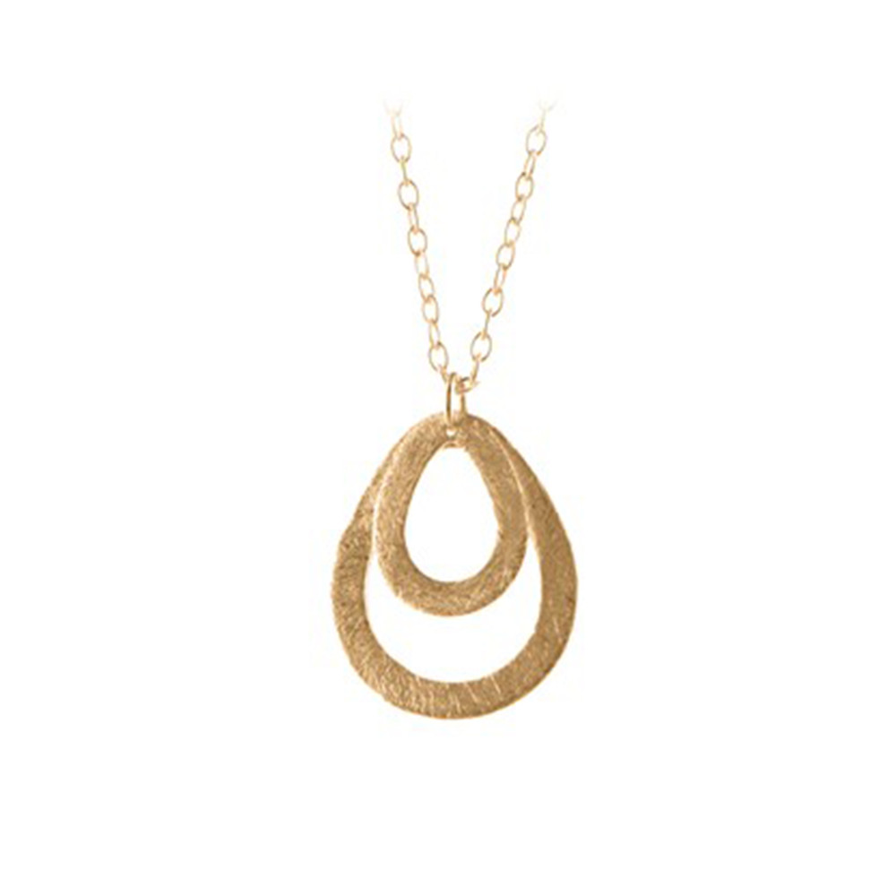 Mini Double Drop Necklace - Gold