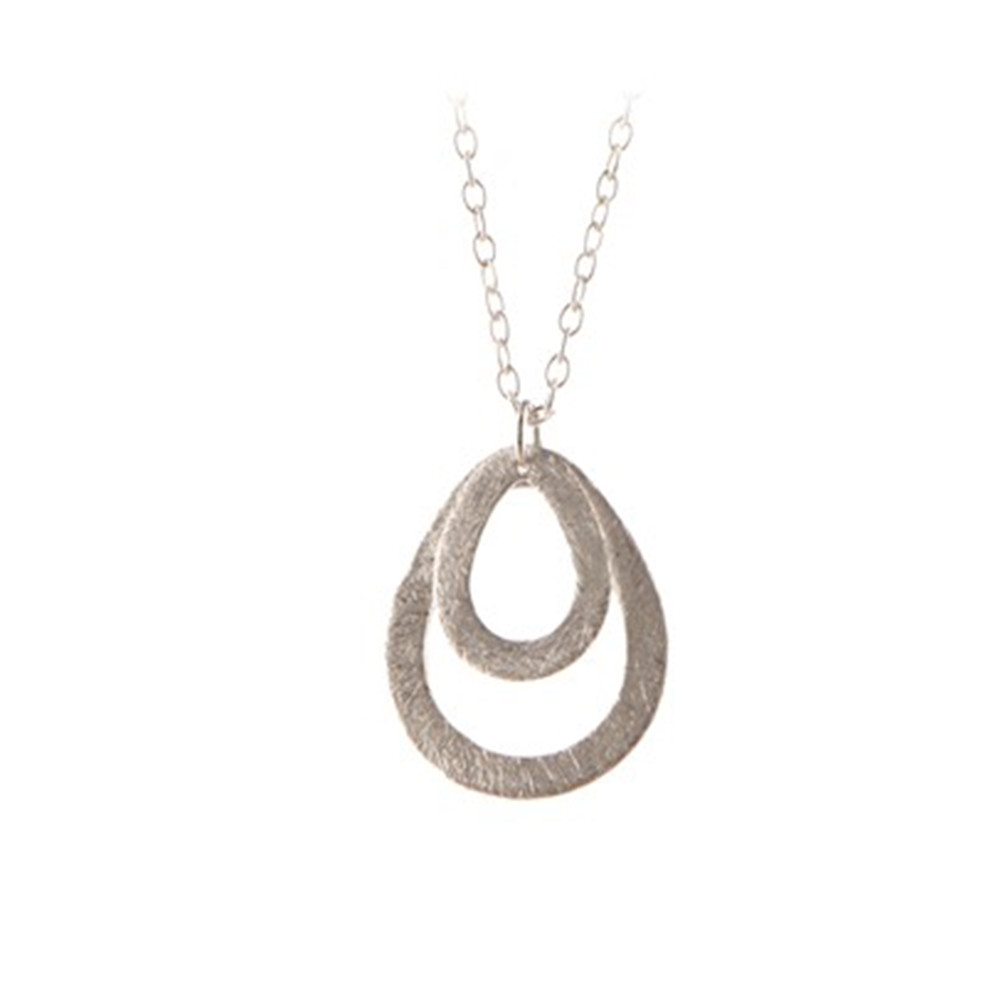 Mini Double Drop Necklace - Silver