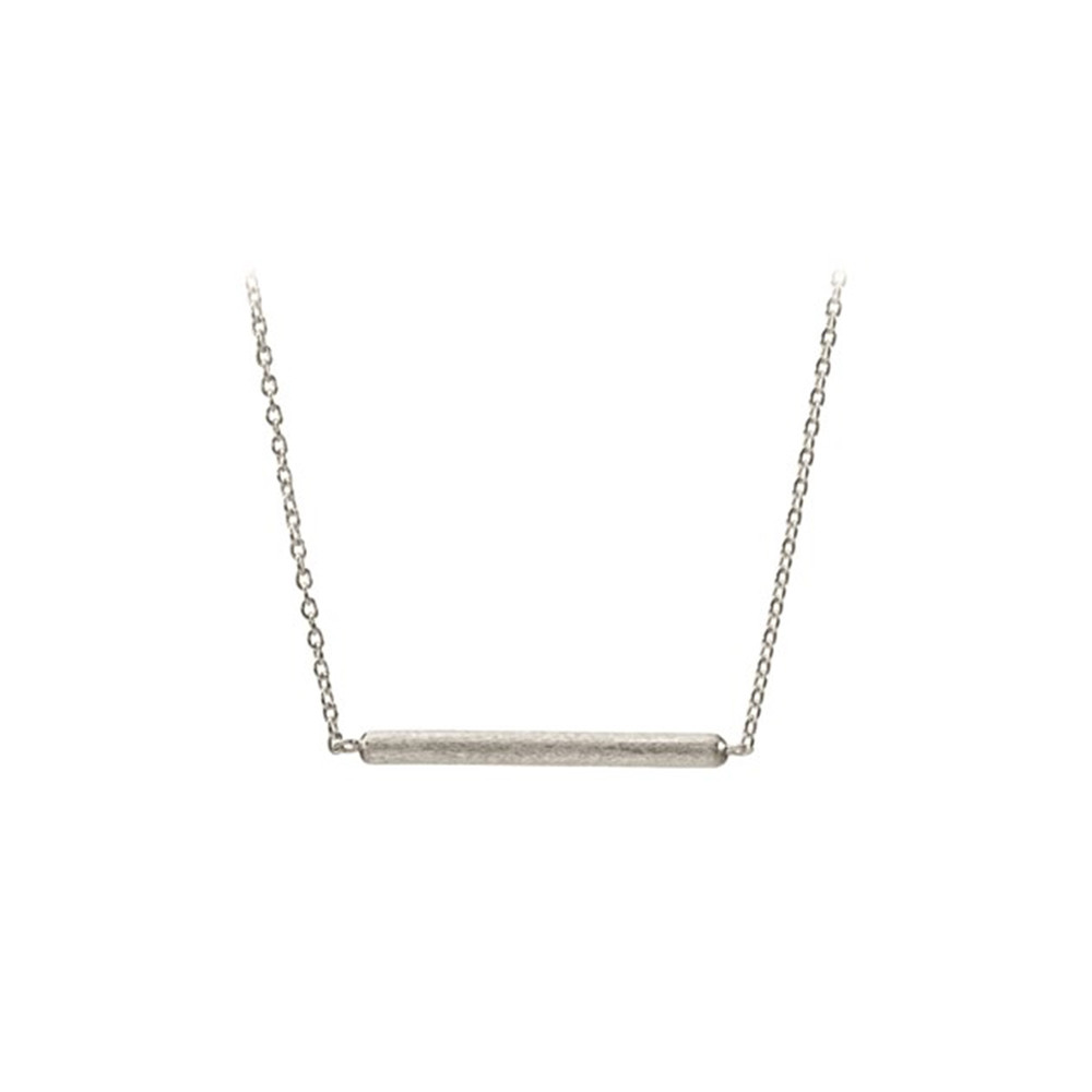 Adjustable Stick Necklace - Silver