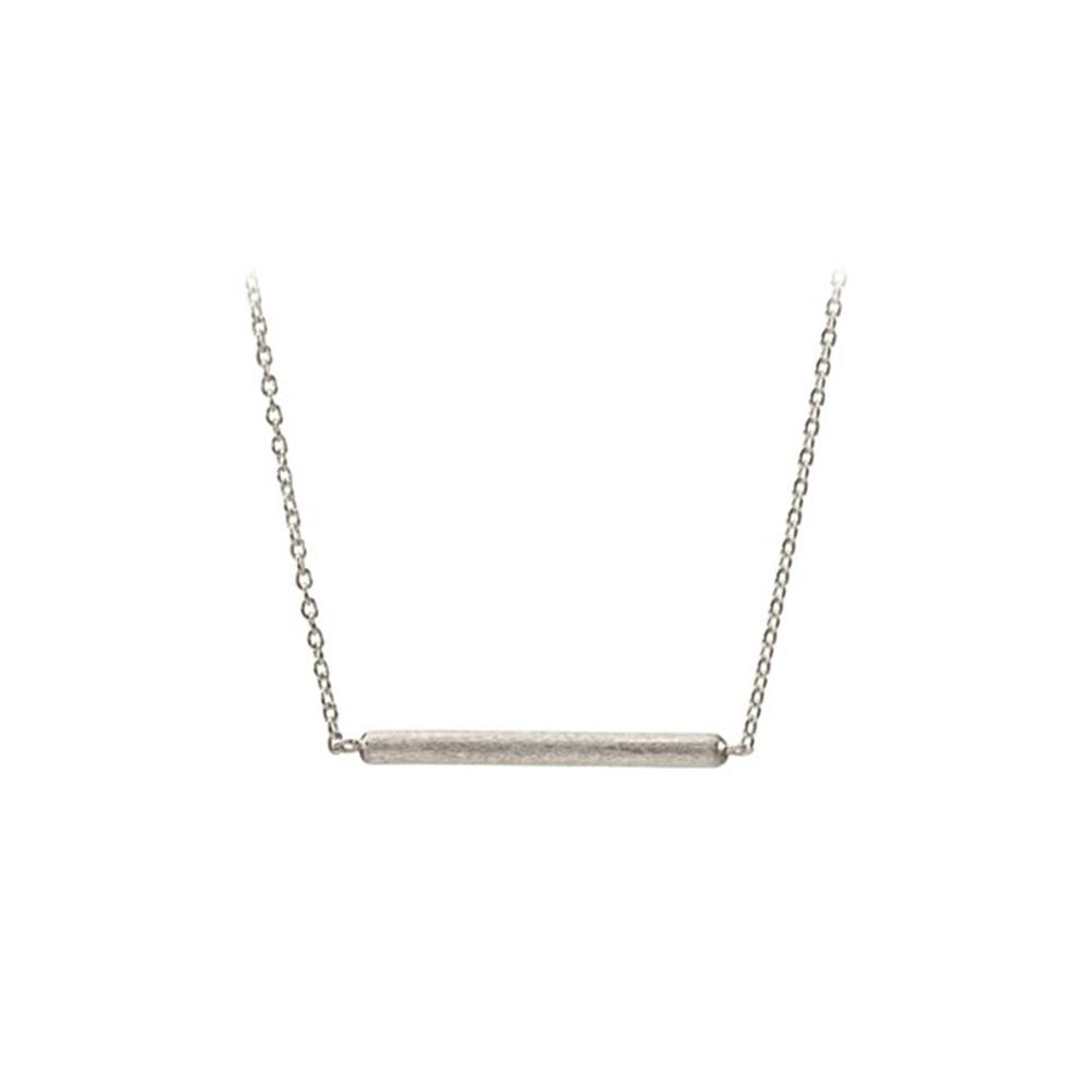 Adjustable Stick Necklace - Silver
