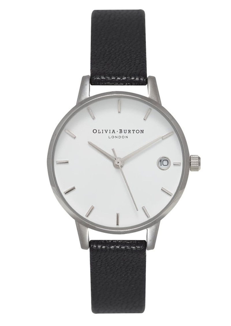 Olivia Burton The Dandy Watch - Black & Silver main image