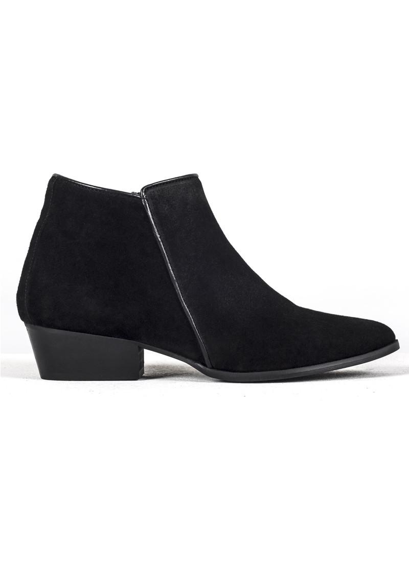 A COPENHAGEN Bella Suede Boot - Black main image
