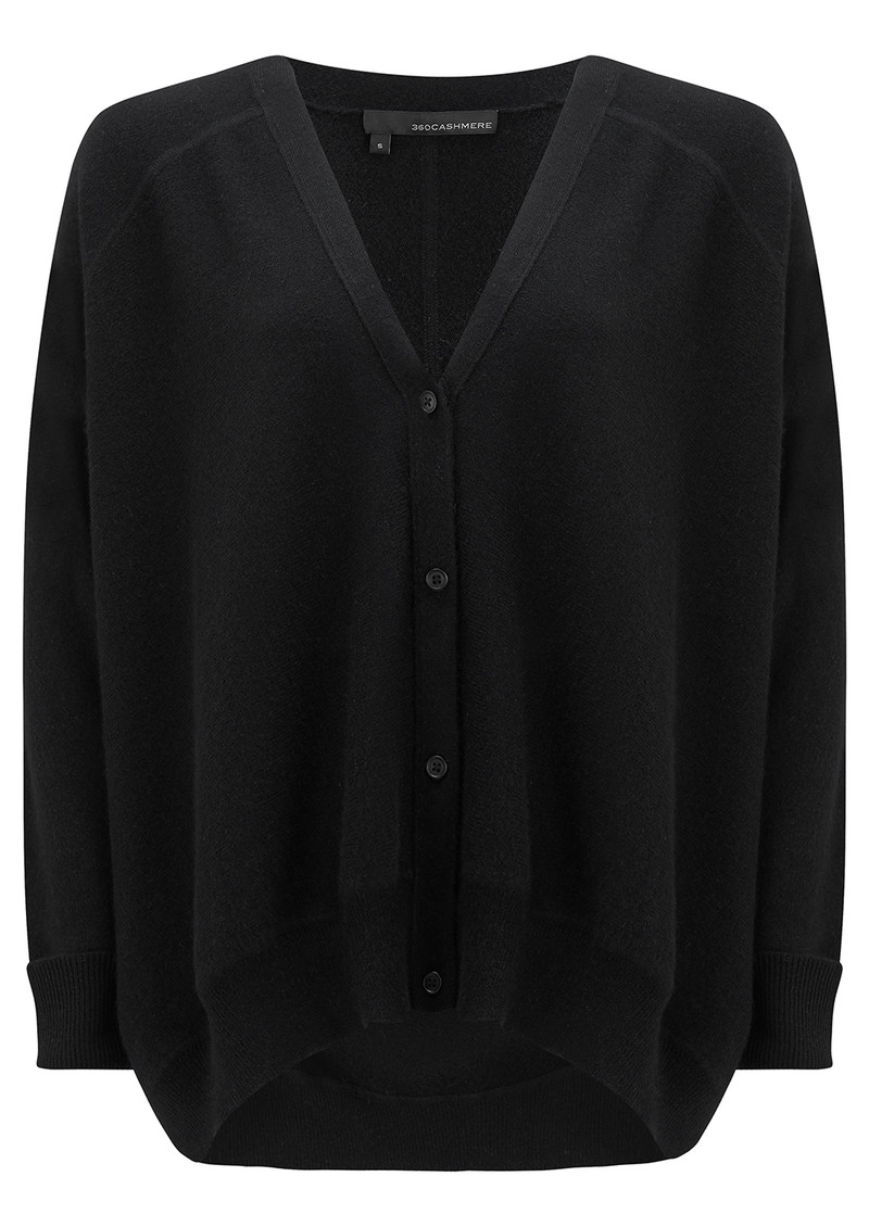 360 SWEATER Dempsey Cashmere Cardigan - Black main image