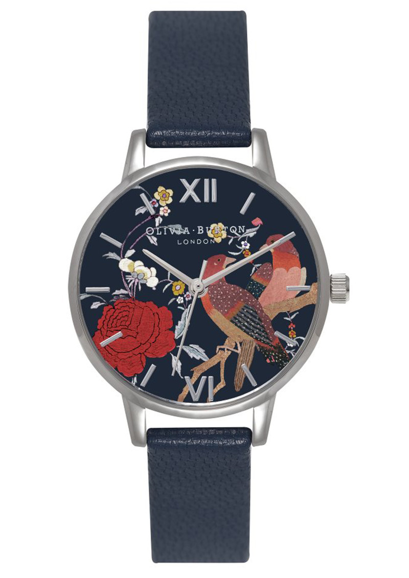 Oriental Opulence Midi Dial Watch - Navy & Silver main image