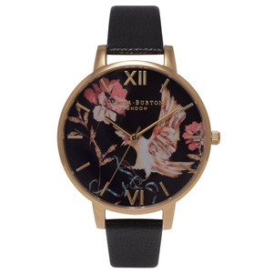 Oriental Opulence Bird Watch - Black & Gold