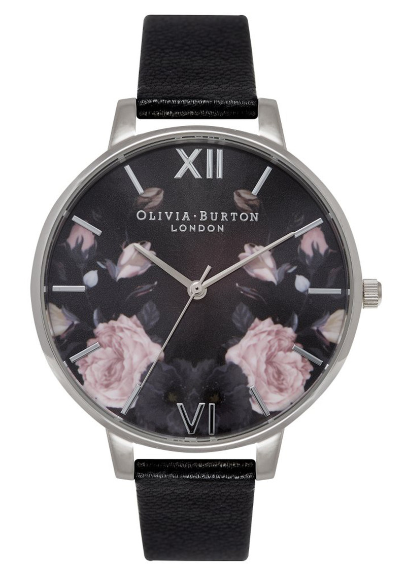 Olivia Burton Enchanted Garden Watch - Black Mirror & Silver main image