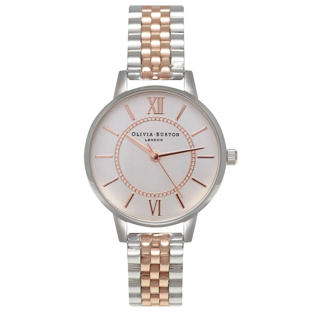 Wonderland Mix Metal Bracelet Watch - Silver & Rose Gold