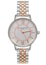 Olivia Burton Wonderland Mix Metal Bracelet Watch - Silver & Rose Gold