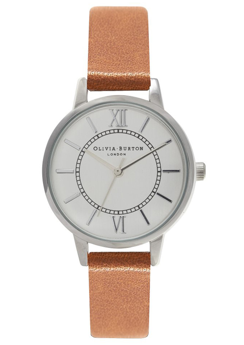 Olivia Burton Wonderland Watch - Tan & Silver main image