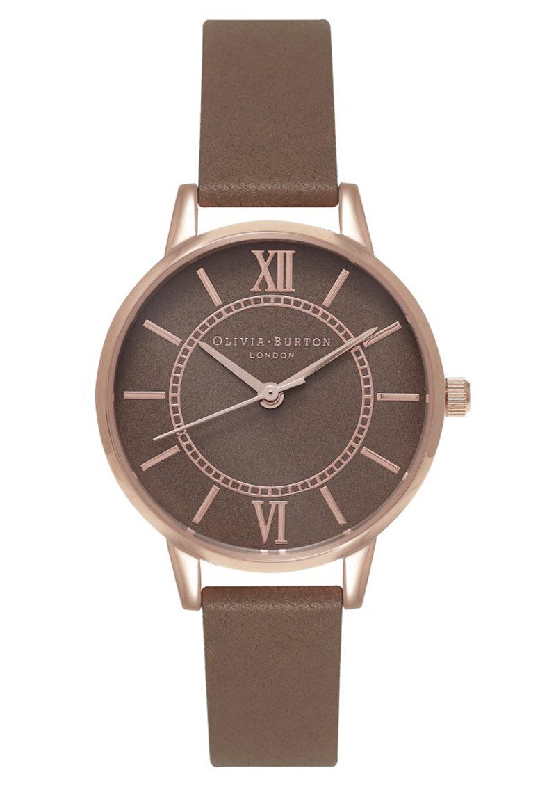 Wonderland Taupe Dial Watch - Taupe & Rose Gold main image