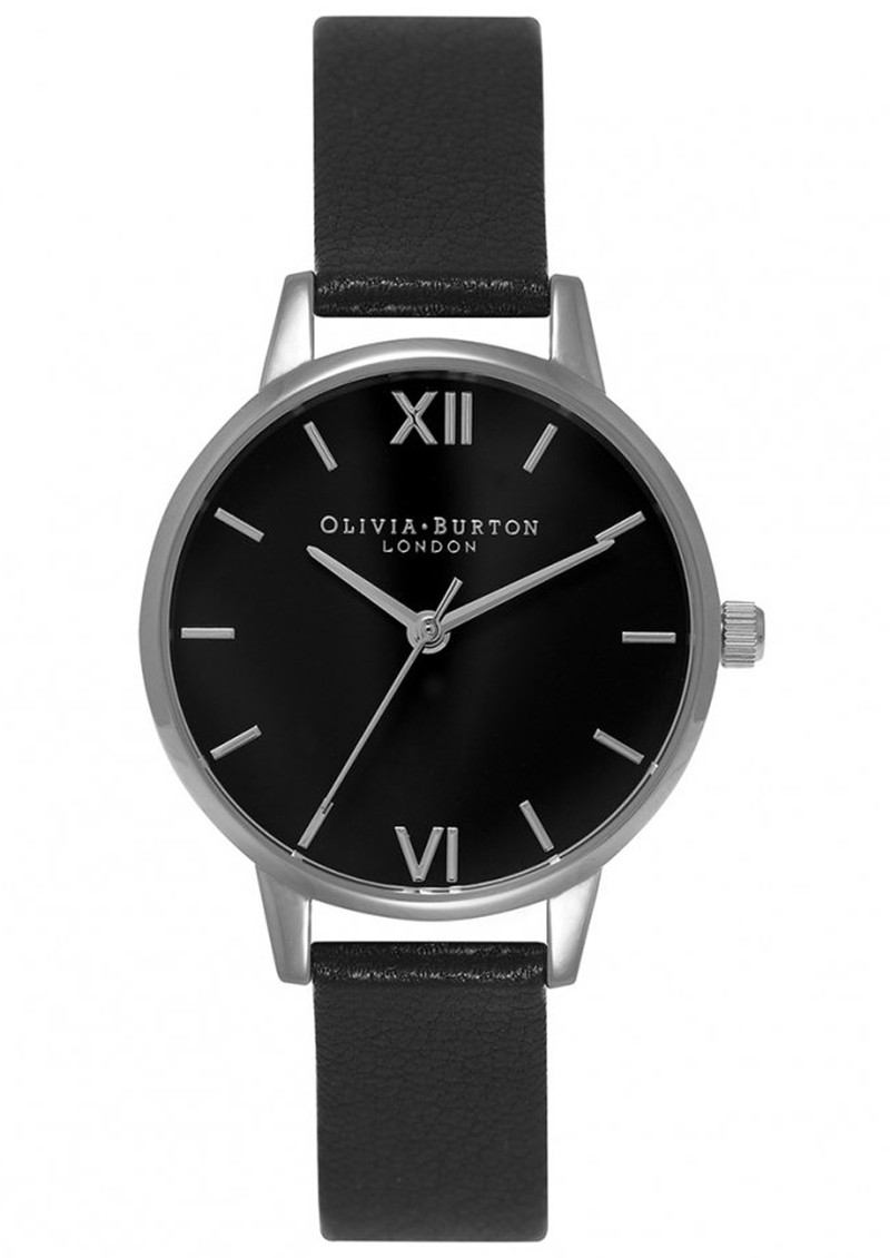 Midi Dial Black Dial Watch - Black & Silver main image